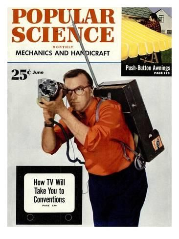 Front cover of Popular Science Magazine: June 1, 1950 Art Print