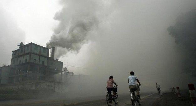 Nuage de pollution en Chine