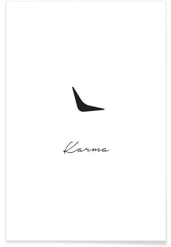 Karma as Premium Poster by Trabolt Design   JUNIQE
