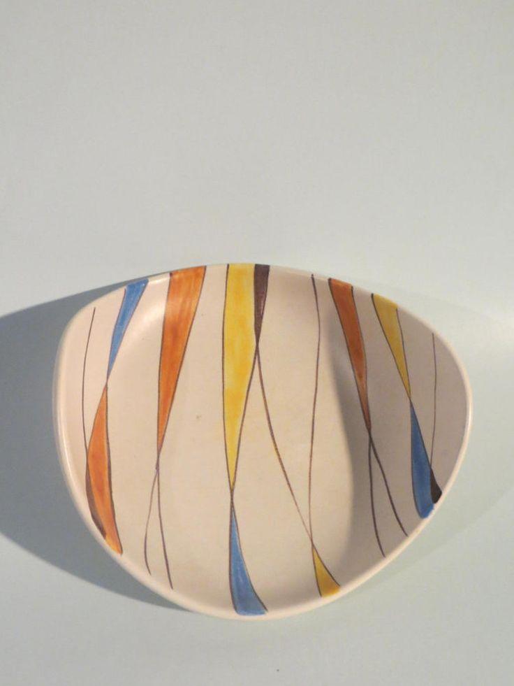 50er Jahre Keramik Schale Zeller Keramik / SCHMIDER - Form 4063 - Dekor 1818