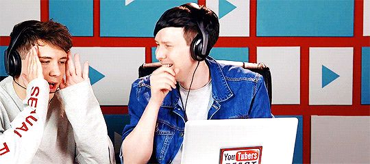 YOUTUBERS REACT TO NICKI MINAJ CHALLENGE << Phil's laugh is the most amazing thing I've ever heard I love him so so so so much.