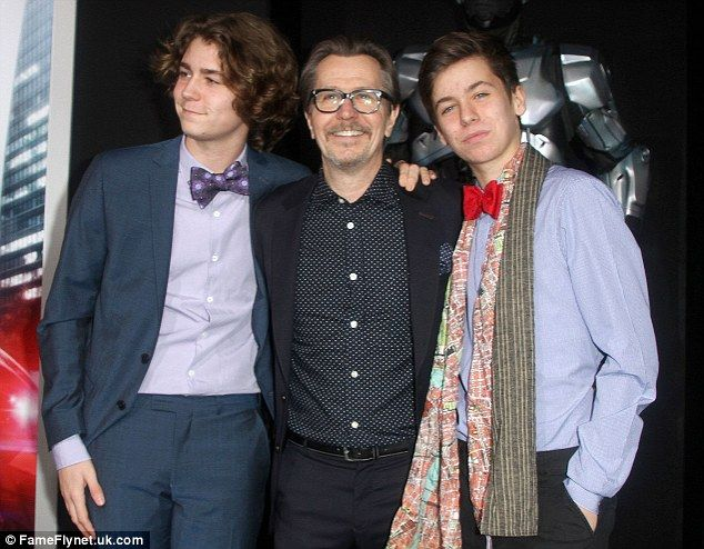 Gary Oldman with two of his sons