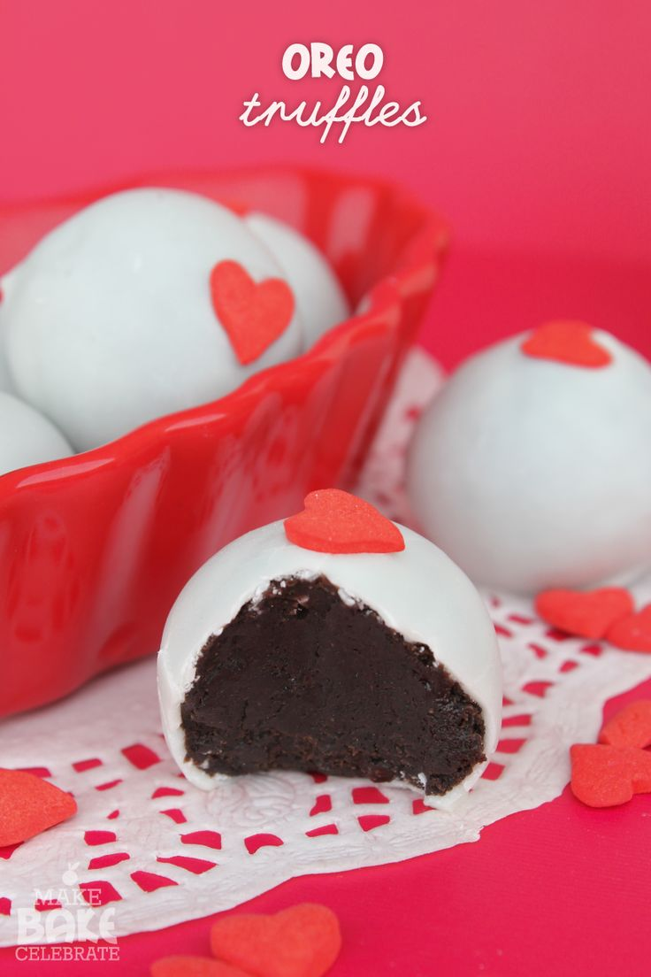 "Oreo Truffles - there's no better way to tell him ""I LOVE YOU"" then with Oreos. <3"