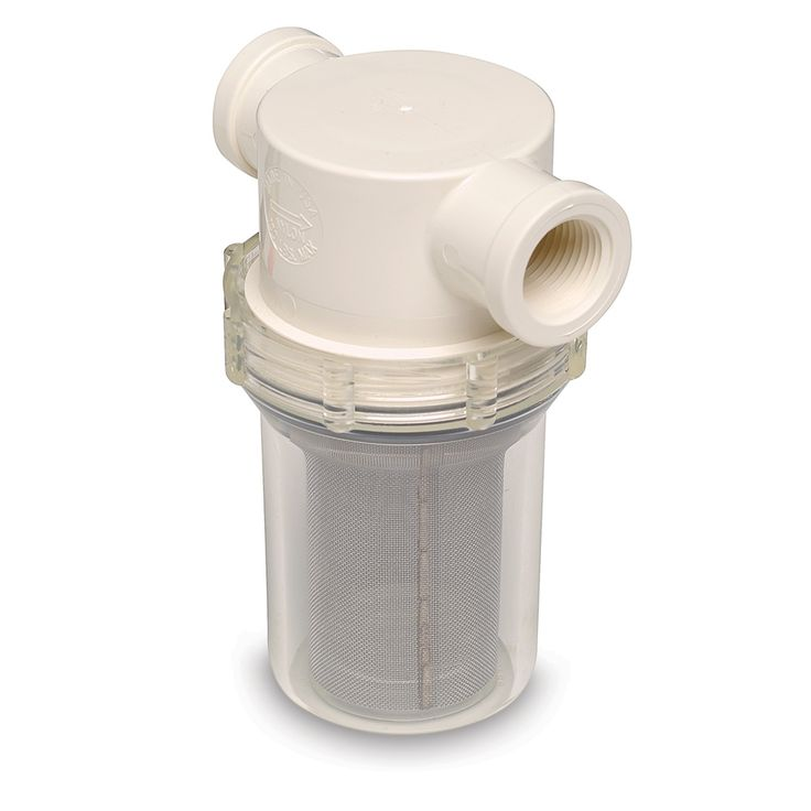 "SHURFLO 1/2"" Raw Water Strainer w/Bracket & Fittings - 50 Mesh Screen - https://www.boatpartsforless.com/shop/shurflo-12-raw-water-strainer-wbracket-fittings-50-mesh-screen/"