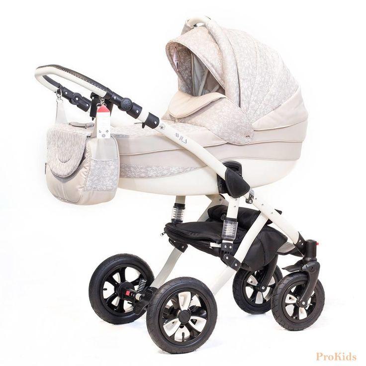 Детская коляска Adamex 2в1 Avila 585G  Цена: 300 USD  Артикул: TW5424  Детская коляска Adamex 2в1 Avila – новинка 2015 года. Легкая алюминиевая рама с двойным амортизатором, накачиваемые колеса, два из которых поворотные, обеспечивают комфорт передвижения по любому покрытию. Благодаря применению адаптера типа click-clack можно легко и быстро менять модули. Модель отличается современным и элегантным дизайном. Люльку и прогулочный блок можно установить лицом или спиной по направлению движения…