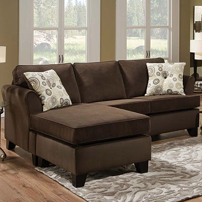 chaise living room furniture simmons 174 malibu beluga sofa with reversible chaise at big 15404