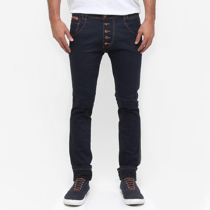 Compre Calça Jeans Biotipo Skinny Super Escura Botões Jeans na Zattini a nova loja de moda online da Netshoes. Encontre Sapatos, Sandálias, Bolsas e Acessórios. Clique e Confira!