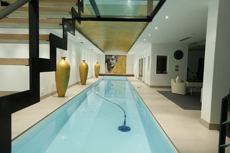 The fantastic indoor heated swimming pool