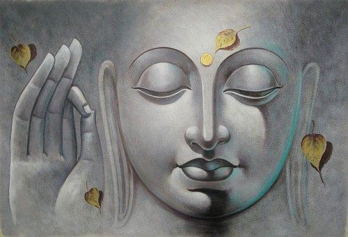 Mahanirvana 06 - 36in X 24in,RAJVEN09_3624,Acrylic Colors,Peace,Buddha,Shanti,Meditation,Buddhism - Buy Paintings online in India