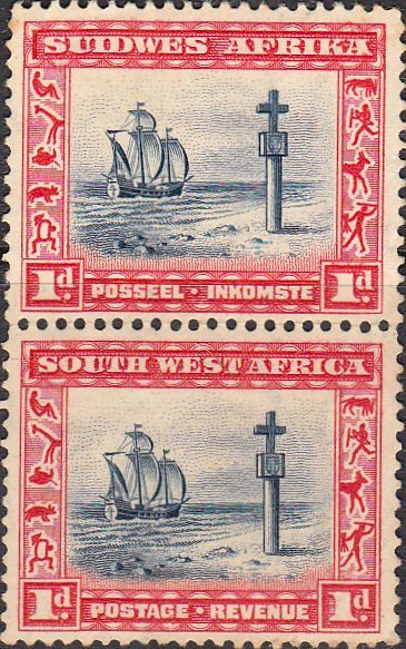 South West Africa 1931 Cape Cross Vertical Pair SG 75 Fine Mint SG 75 Scott 109 British Commonwealth stamps for sale here