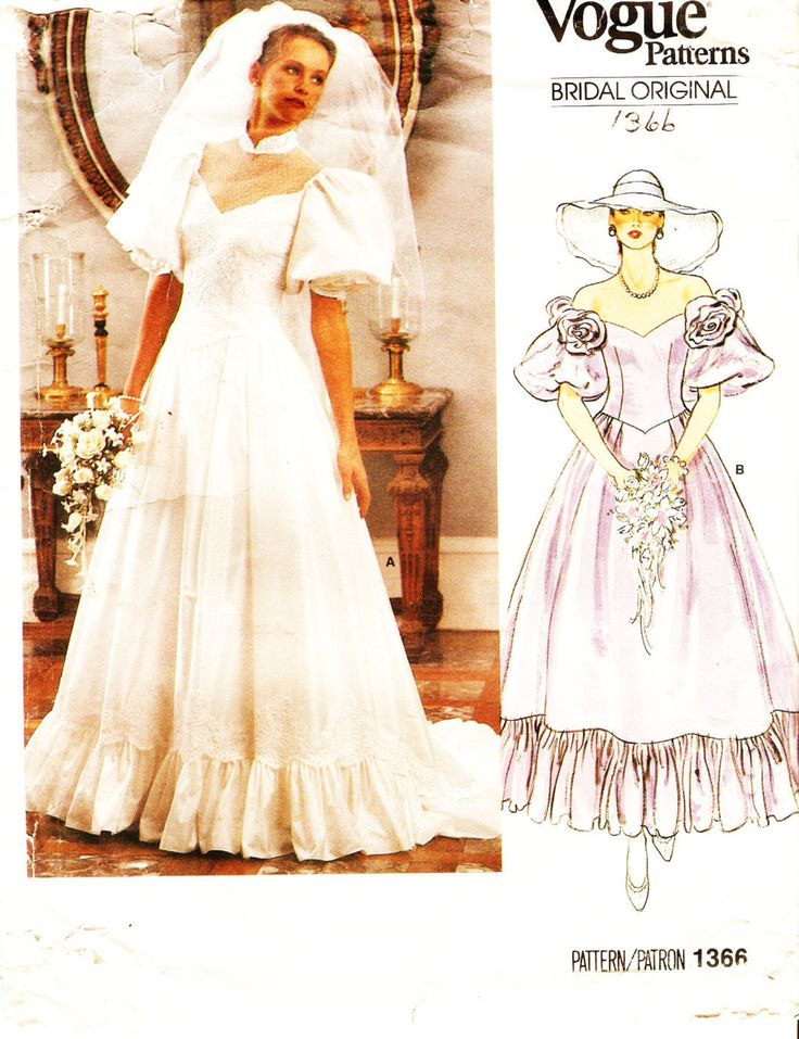 20 best images about vintage wedding dress patterns on for Wedding dress patterns vintage