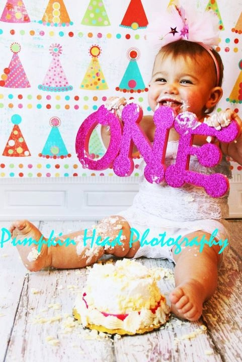 Cute photo for 1st birthday