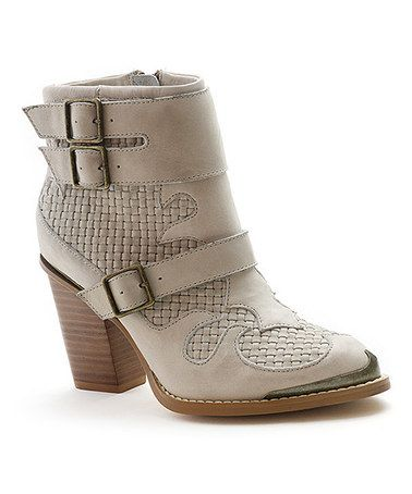 Loving this Winter White Hamlin Ankle Boot on #zulily! #zulilyfinds