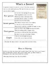 A guided analysis of William Shakespeare's Sonnet 116 for kids.