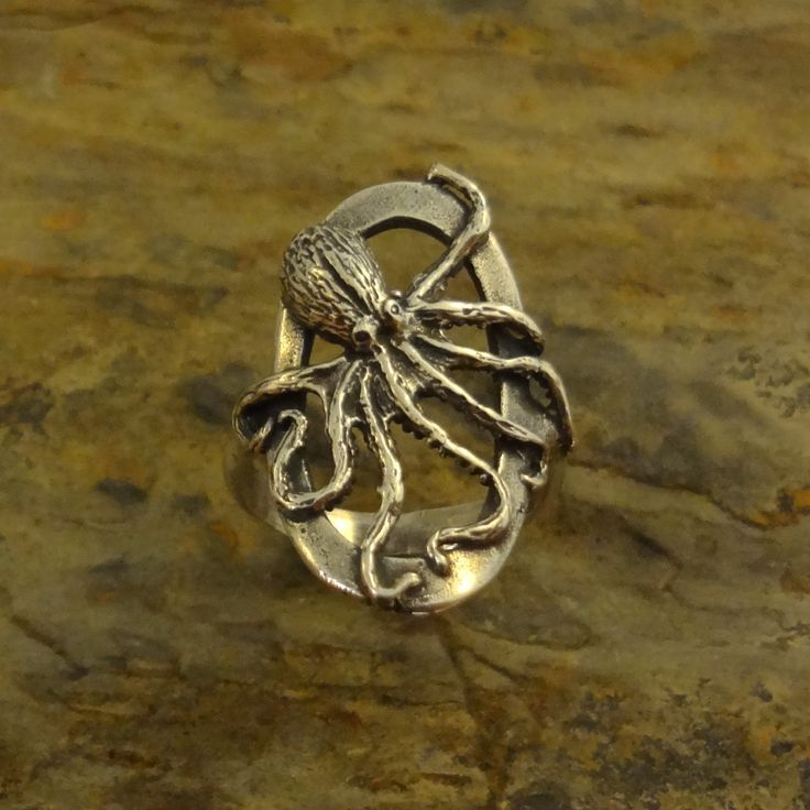 Sterling Silver Octopus Ring, Oval – All Animal Jewelry & Jan David Design Jewelers