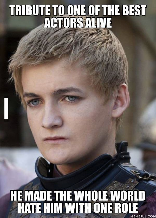 Jack Gleeson (King Joffrey) Amazing actor. I absolutely hate his character, but I love Jack Gleeson.