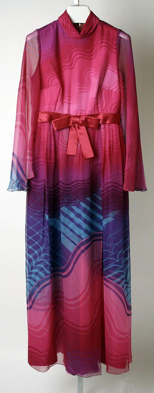 Evening Dress, Hanae Mori, ca. 1969, Japanese, silk