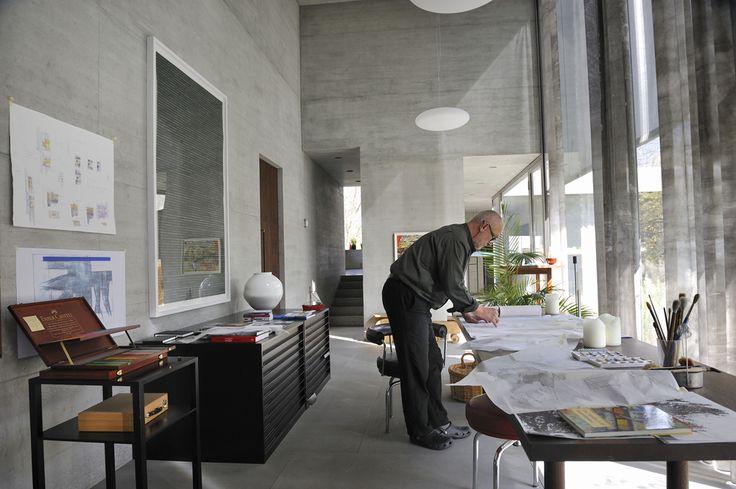 peter zumthor / architect's studio, haldenstein (epic shoe fail)