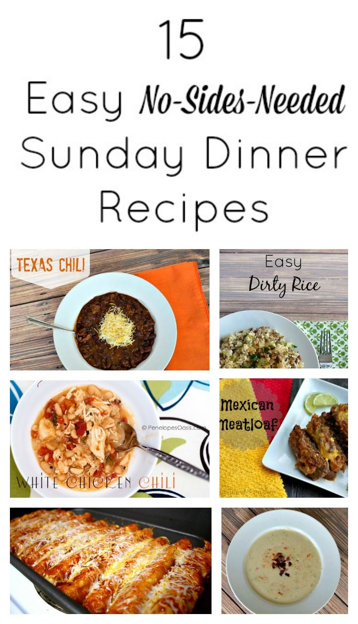 15 Easy No-Sides-Needed Sunday Dinner Recipes #sundaydinner  #ad #recipes