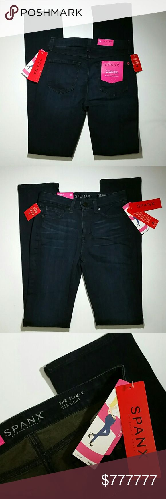 NWT Spanx size 25 Slim - X Dark Wash NWT NEW! Awesome slimming dark wash jeans by Spanx! Slim fit. Measurements included in pictures SPANX Jeans Skinny