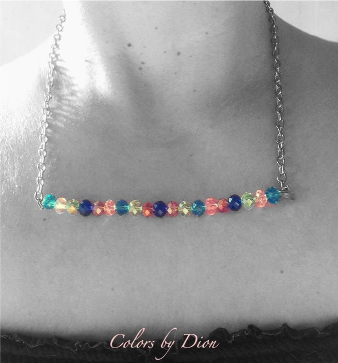 Handmade necklace with crystal beads
