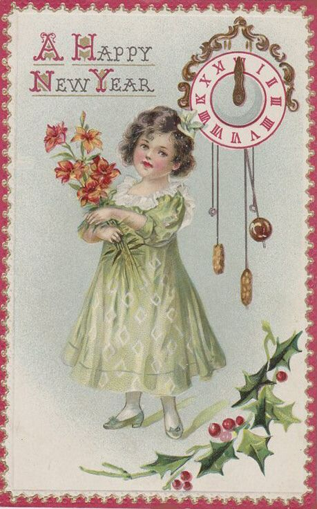 Lovely New Year's wishes. #vintage #New_Years #card