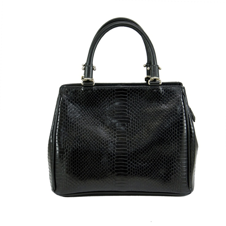Tribecca Leather Handbag in Black Snake - $179.00  Check it out at: http://www.bagaholics.com.au/leather-bags-c6/tribecca-leather-handbag-in-black-snake-p581/