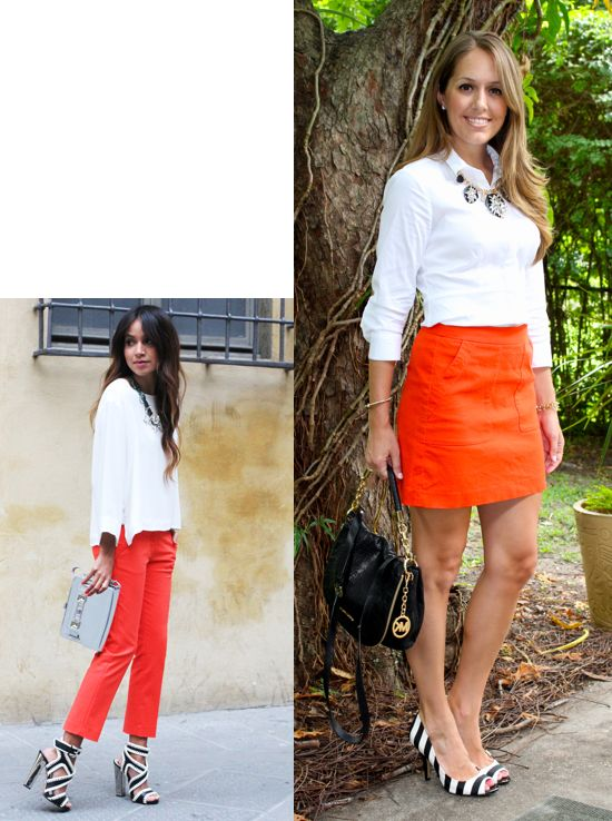 perfect orange shoes outfit ideas