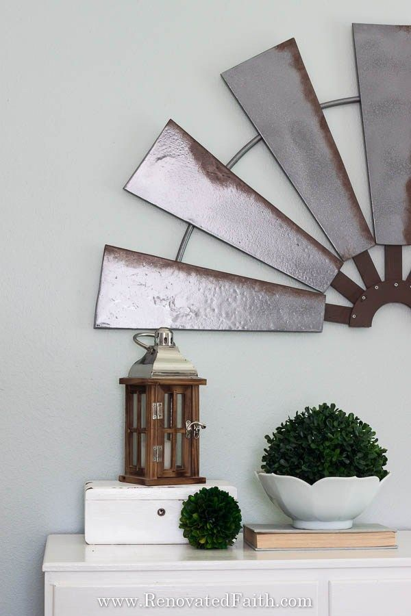 Diy Windmill Wall Art For Under 20 Make Your Own Farmhouse Style Windmill Wall Hanging For Your Home Or Even Windmill Wall Decor Windmill Decor Windmill Diy