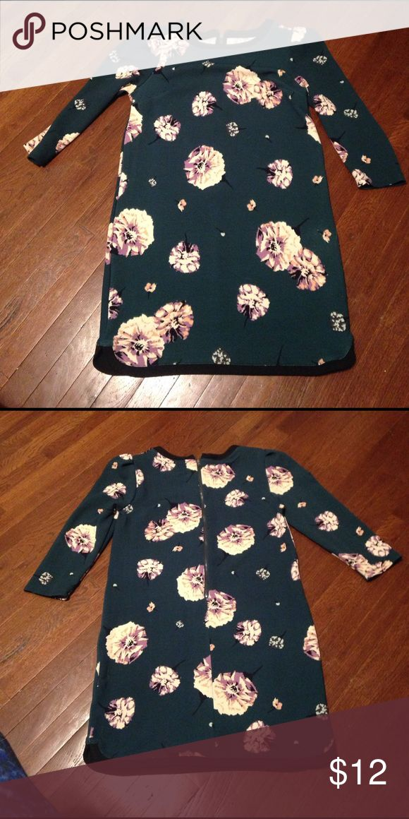 Floral winter dress. Size M.  Only worn once. Dresses Mini
