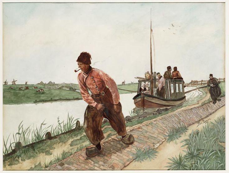Trekschuit naar Volendam - Barge to Volendam ~ Hore Boccar, 1907