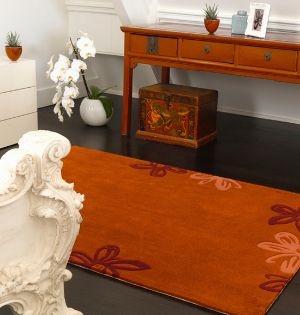 Frame Fr 08 Flower Terracotta Rug From Our Website Http