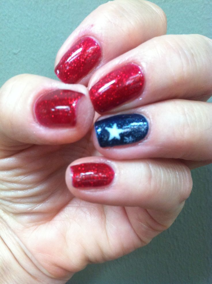 4th of July SHELLAC | nail art work | Pinterest