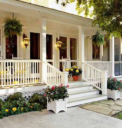 Wish our porch had a stair at the front door
