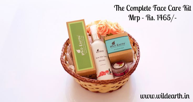 The Face Care Kit from Wild Earth. All natural, sulphate and paraben free bath and body products from Wild Earth.