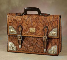 Stunning Edw H Bohlin Silver & Gold Briefcase made for Larry Hagman