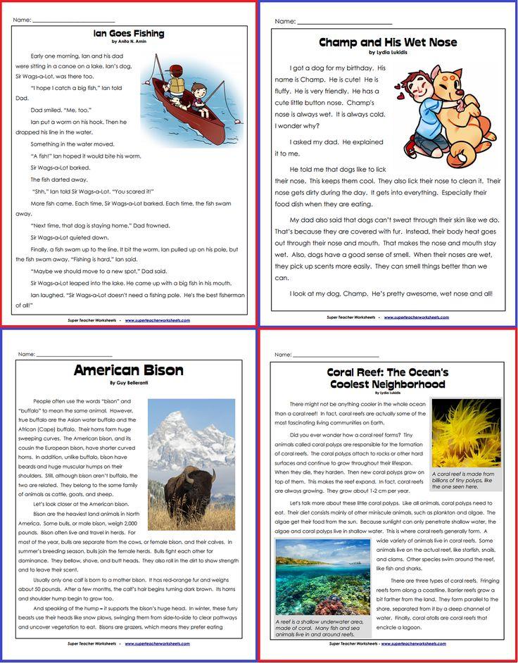 20 best BacktoSchool Super Teacher Worksheets images on – Super Teacher Worksheet Reading Comprehension