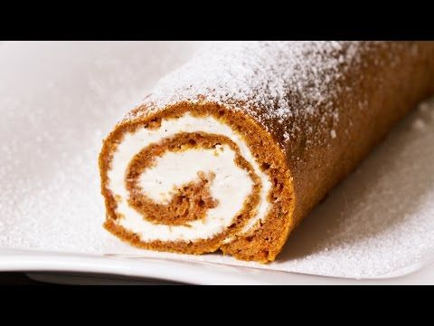 Carrot Cake Roll Recipe - YouTube
