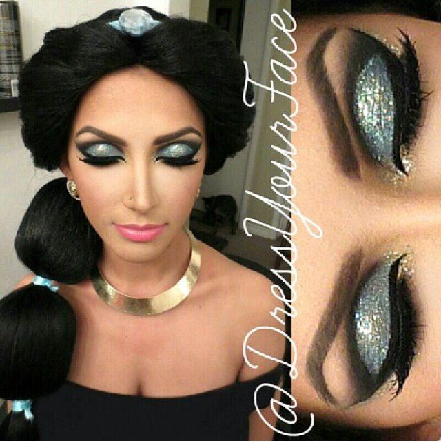 Princess Jasmine hair and makeup