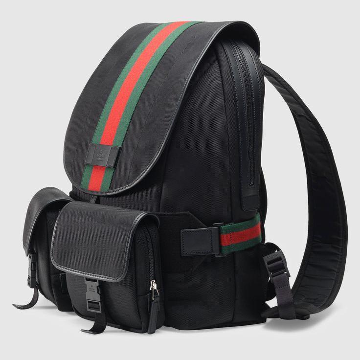 GUCCI® Web Band Canvas Backpack