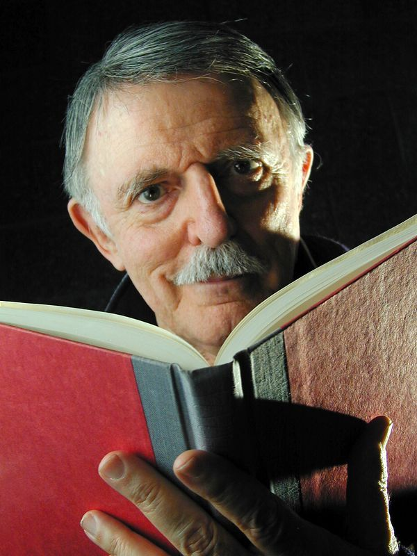 John Astin with a book  *cue Addams Family theme song* snap-snap