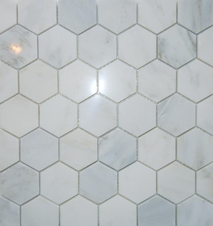 2 Hex Carrara Marble Floor Master Bath Pinterest Tiles And Bathroom