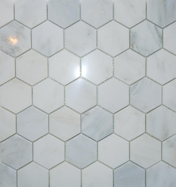 2 hex carrara marble floor master bath pinterest mosaic tiles floors and bathroom flooring Marble hex tile bathroom floor