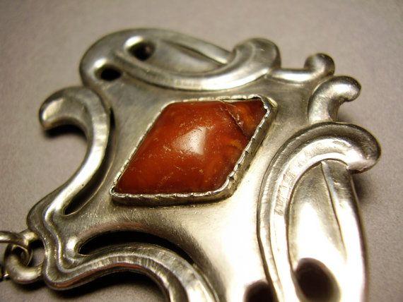 Antique Danish Skonvirke Brooch Pin Jugendstil by TheLovelyJumble