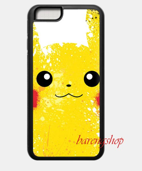 Custom Case Pokemon X Y PIKACHU Lightening Yellow iPhone 6 Case