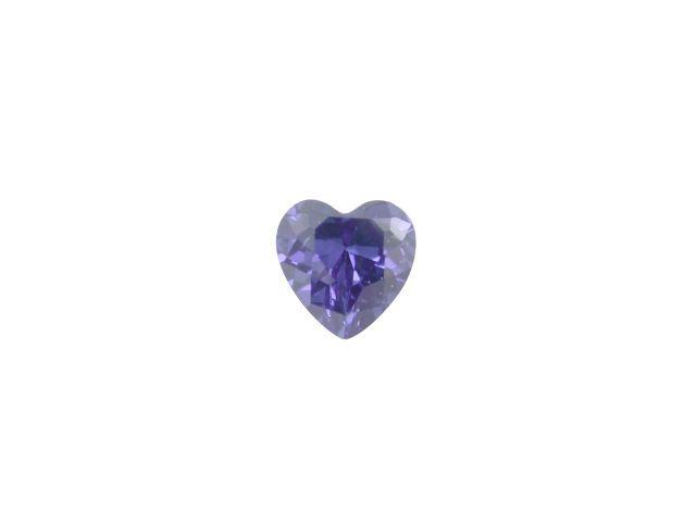 5mm Heart Blue Cubic Zirconia *butterfly Memories* Charm