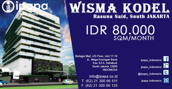 Ingin memiliki kantor di Wisma Kodel? Kunjungi link berikut ini http://ipapa.co.id/id/building/detail/wisma-kodel-24 #ipapa #ipapaindonesia #ipapapromotion #officespace #officerent #sewaoffice #sewakantor #officejakarta #kantorjakarta