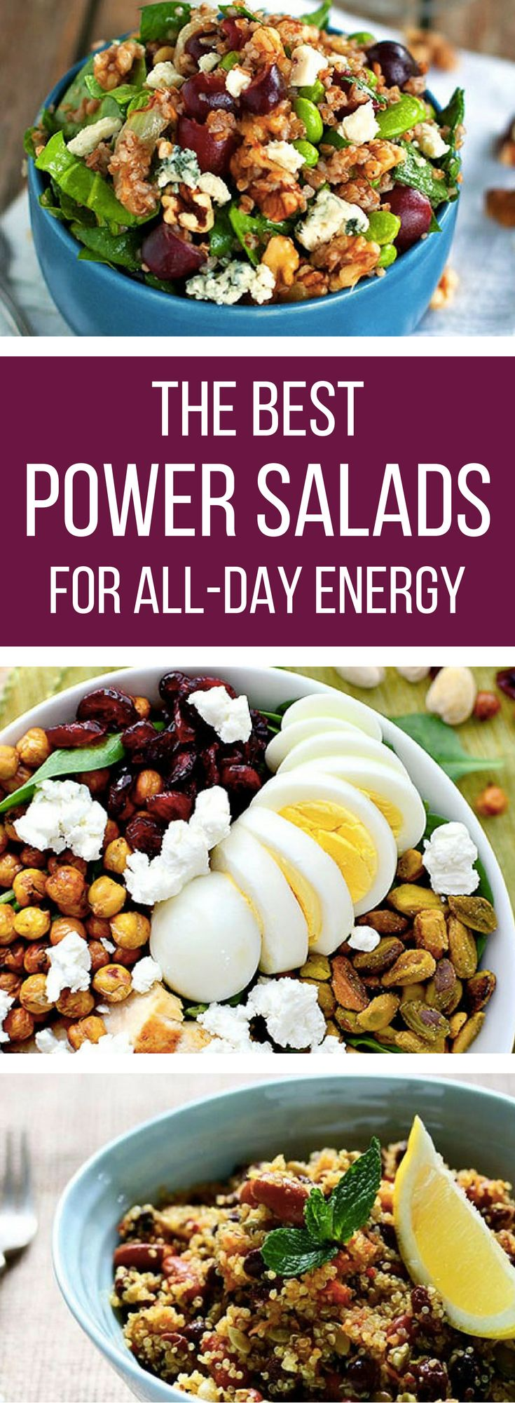 Rock your day with these power-packed salads! Chock full of superfoods, these salad recipes are hearty enough to see you through even the longest day at the office. // spryliving.com