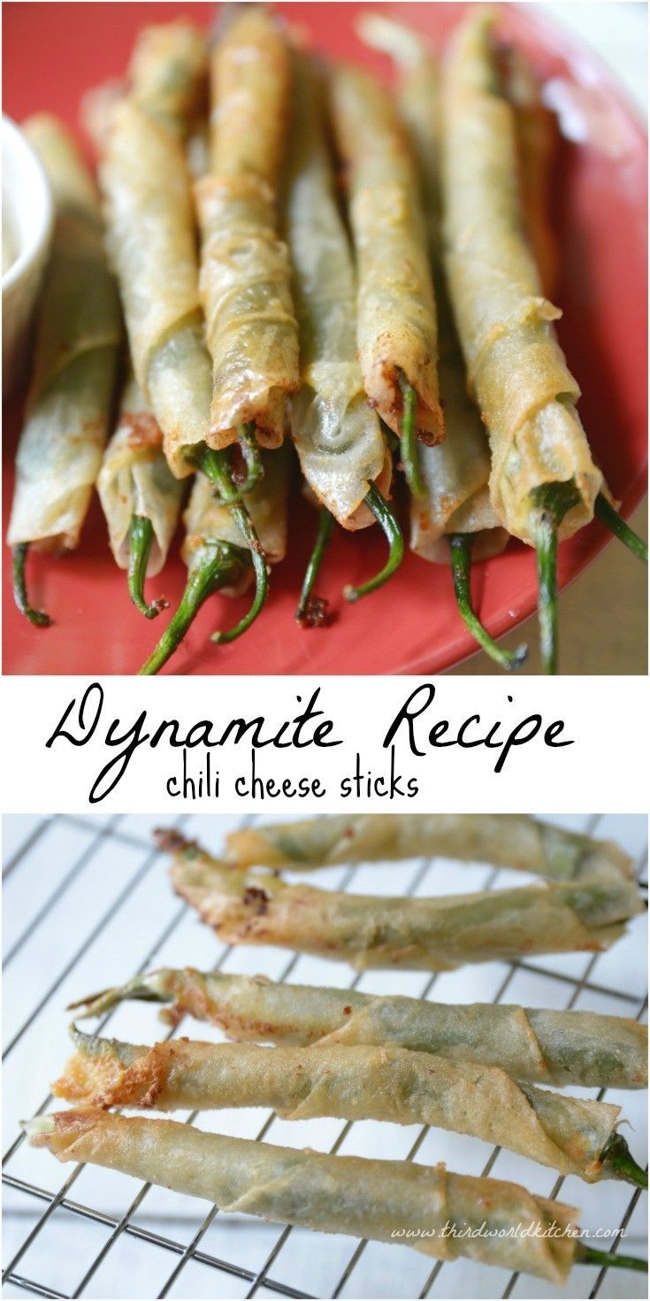 Dynamite Recipe - Chili Cheese Sticks Learn know how to cook dynamite cheese sticks with this easy recipe! Only for the brave! A must-try for spicy food lovers.