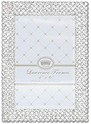 6c480202bcb Amazon.com - Lawrence Frames 4x6 Juliet Silver Metal Crystals Picture Frame  -